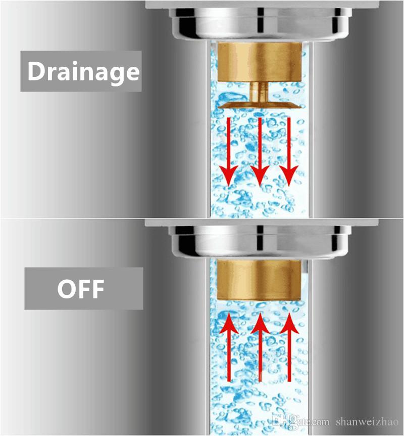 Kare Zemin Drenaj Pirinç Duş Süzgeç Izgara Atık Kiremit Ekleme Kare Zemin Atık Izgaralar Banyo Sifonları Drenaj Süzgeçler