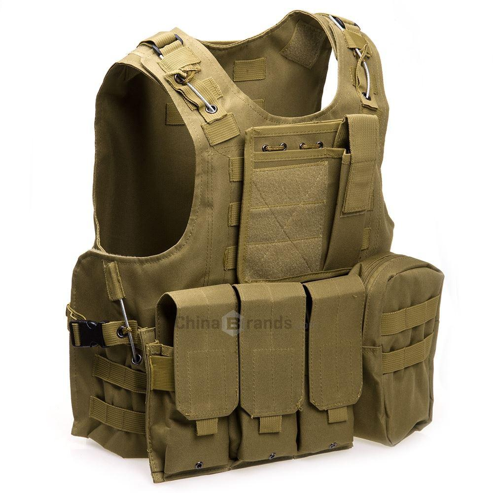 Chaleco táctico es para hombre del ejército chaleco de caza al aire libre campo de batalla CS Molle chaleco de combate placa de asalto portador chaleco de caza