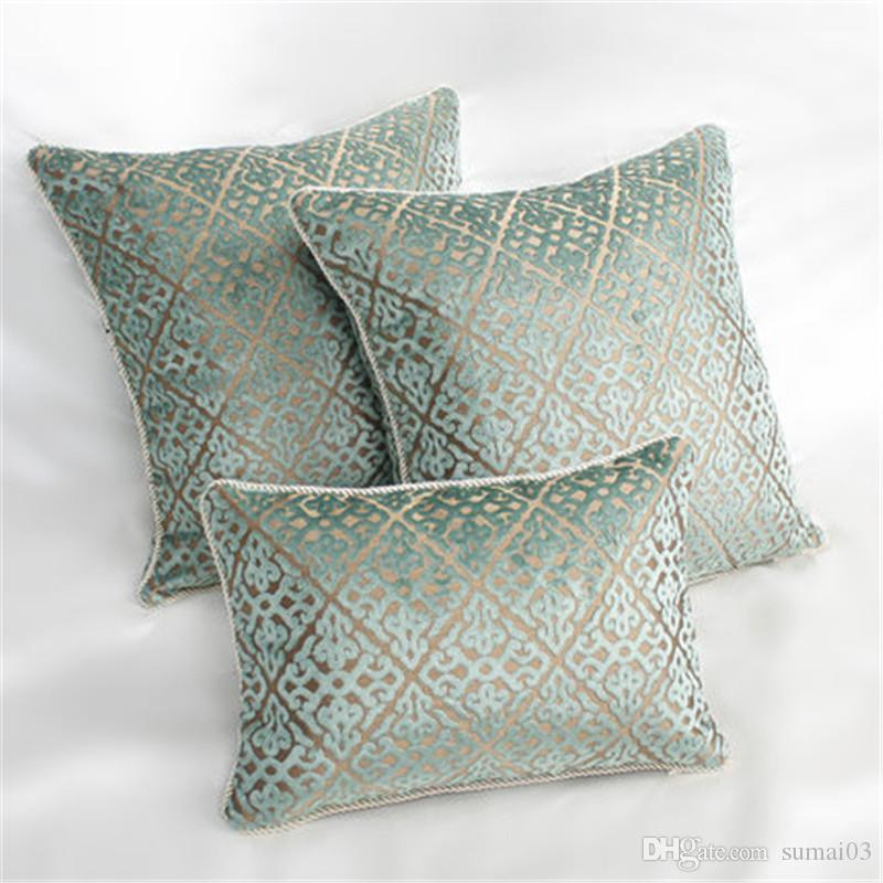 Marvelous Bz194 Luxury Green Chinese Cut Velvet Fabric Cushion Cover Pillowcase Sofa Car Cushion Pillow Home Textiles Supplies Short Links Chair Design For Home Short Linksinfo