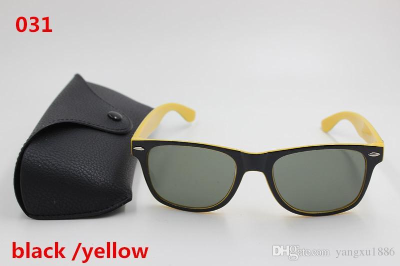 Acheter New Haute Qualité Créateurs De Mode Hommes Et Femmes Rétro Marque  Lunettes De Soleil Noir   Jaune Cadres, Lentilles Brunes UV400 Protection  Boîte ... 1f4cc4f492d5