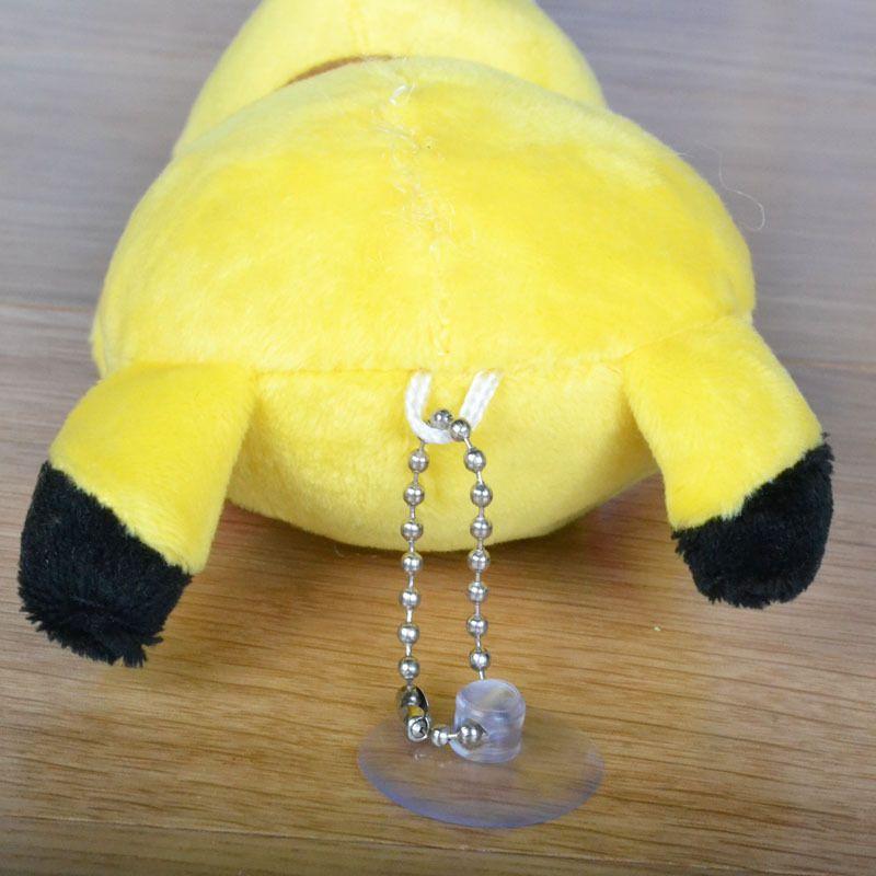 13cm Pika Plush Keychain Pendants Dolls Cartoon Pok e Stuffed Animals Toys Sucker Cute Keyring Christmas Toys