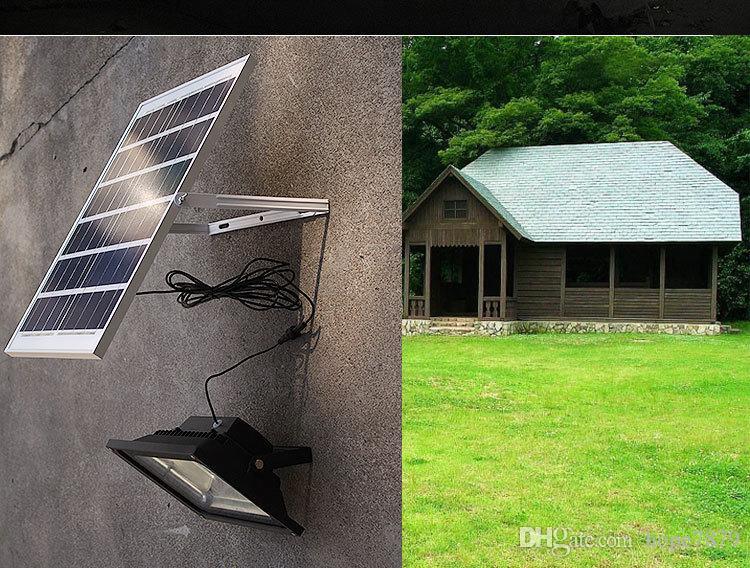 Acquista solare 10w 20w 30w 50w led proiettori illuminazione esterna