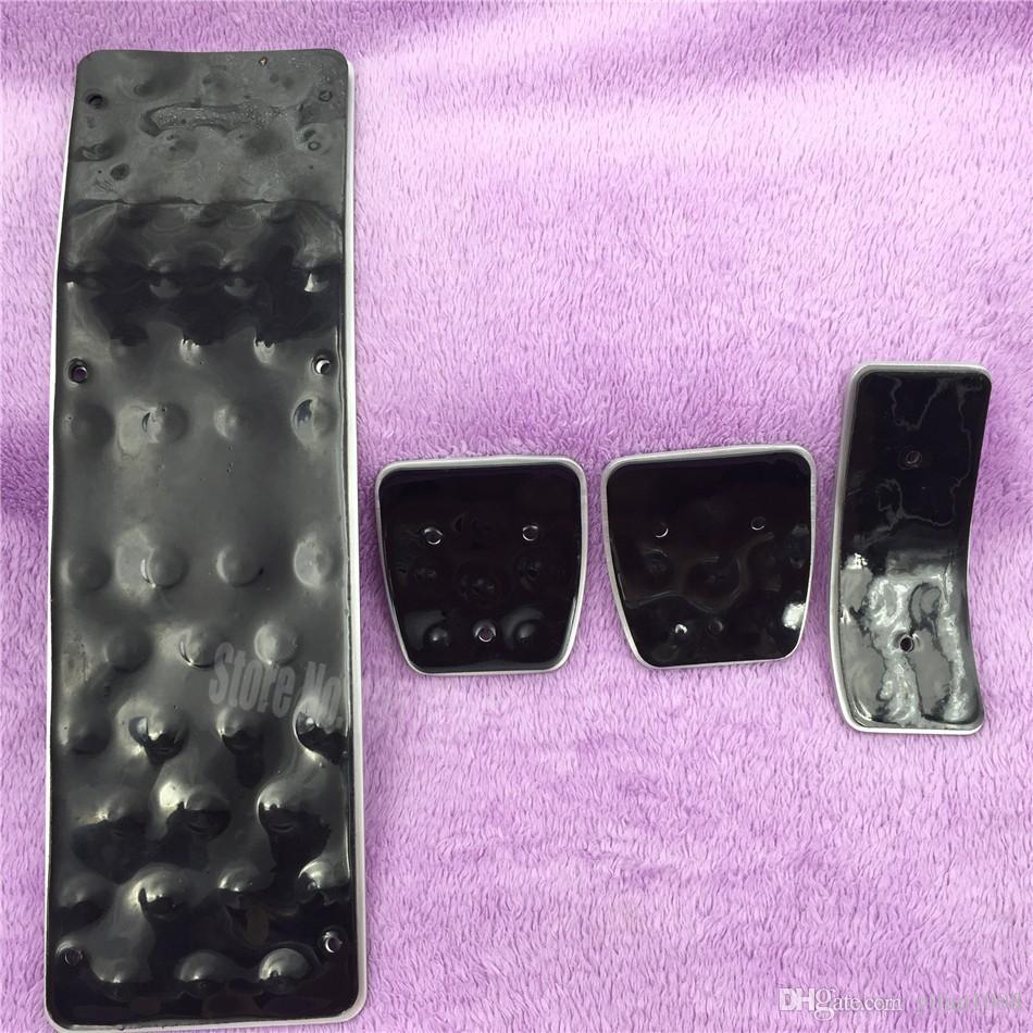 Accesorios para automóviles para Audi A3 A4 B6 B7 B8 A5 A6 C5 C6 A7 A8 A8 Q5 Reposapiés de freno de combustible Placa del pedal AT / MT, freno del acelerador Cubierta