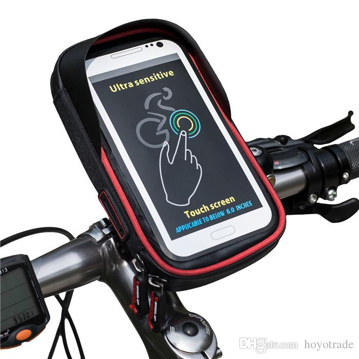 2018 6 0 Inch Bike Bicycle Waterproof Cell Phone Bag Holder