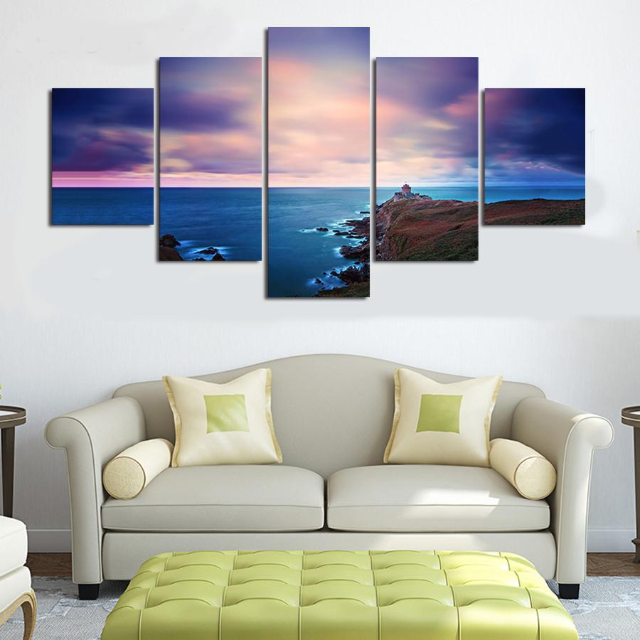 2018 Large Hd Seaview Posters Paintings On The Wall Canvas Print ...