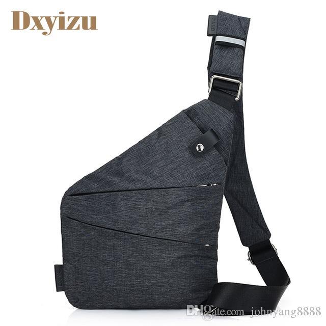 29ab2535b40a 2019 Casual Mens Shoulder Bag Burglarproof Travel Chest Pack Male Messenger  Bag Multifunctional Men S Crossbody Bags Nylon Sling Bag From Johnyang8888