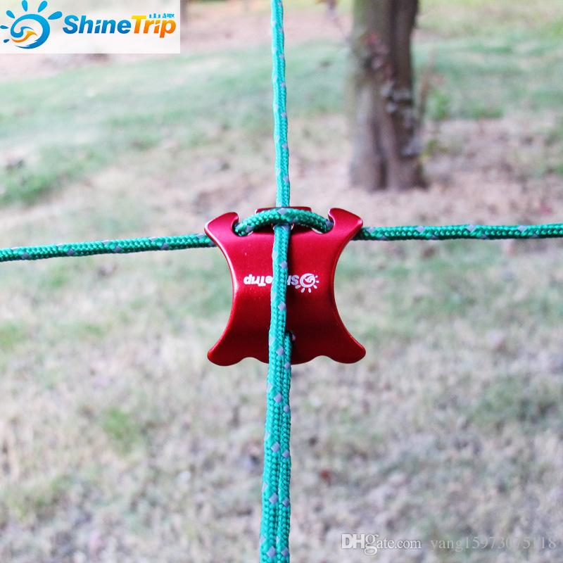 2Sizes Curved Aluminum Tent Wind Ropes Adjustment Buckle Stopper Camping Equipment EDC Gear Tent Camping Accessories 022