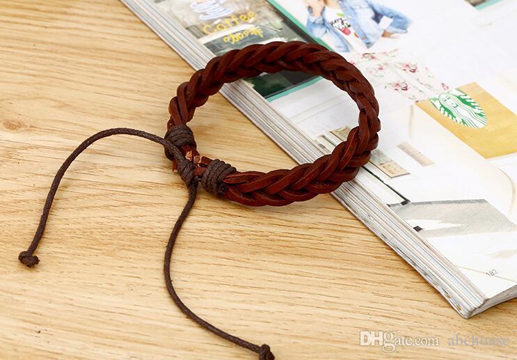 Handgemachte Männer Echtes Leder Geflochtene Armbänder Schmuck für Frauen Great Price Fabrikpreis Großhandel Freies Verschiffen