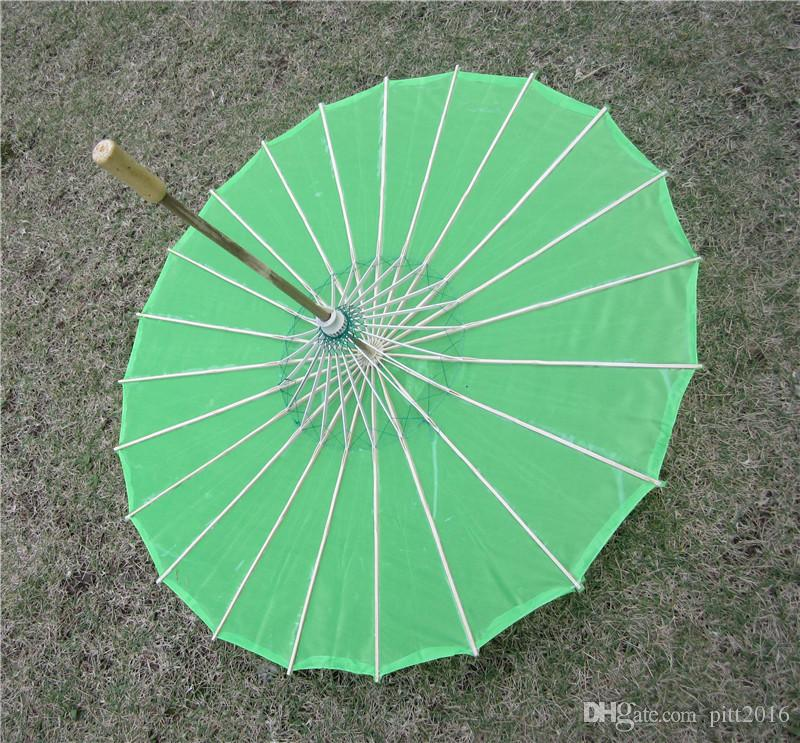 Hot Chinese colored fabric umbrella, white pink parasols, China traditional dance color parasol, Japanese silk props