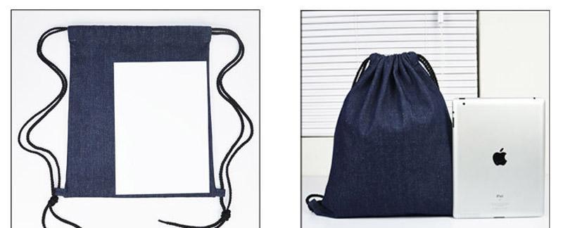 2017 Pure Backpack Cotton Linen Drawstring Bags Travel Bags Cute Backpack Kids School Bag Cute Sports Handbag Shoulders Bag