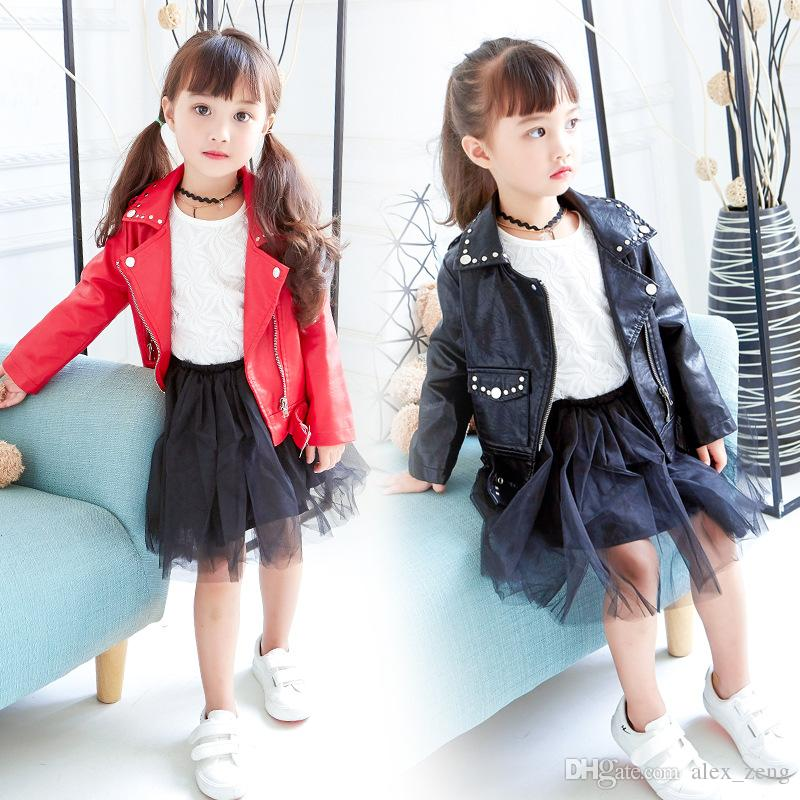 2017 Autumn New Arrival Children Short Coat Girls Fashion ...