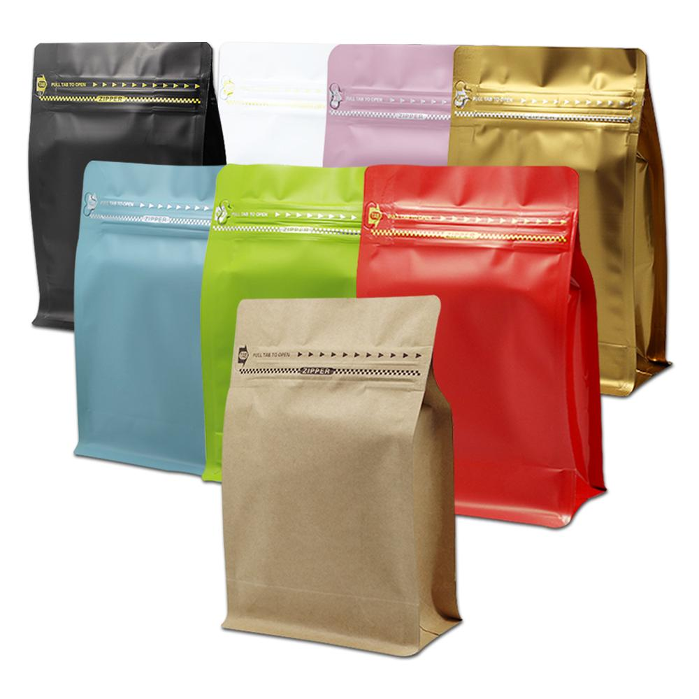 30Pcs/Lot Matte Aluminum Foil Coffee Packaging Zip Lock Bag Open Top Heat Sealing With Zipper Stand Up Food Storage Pack Pouch