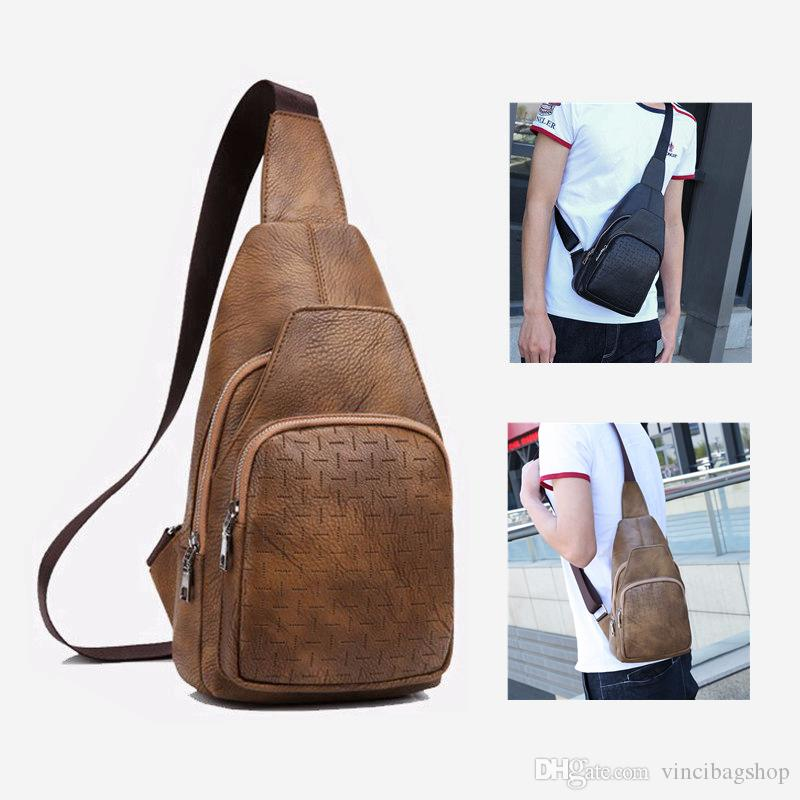 Men Casual PU Leather Chest Bag Business Crossbody Bags Black Brown Shoulder  Bags Outdoor Travel Sling Bag C072 Canada 2019 From Vincibagshop 12fd7a547b41f