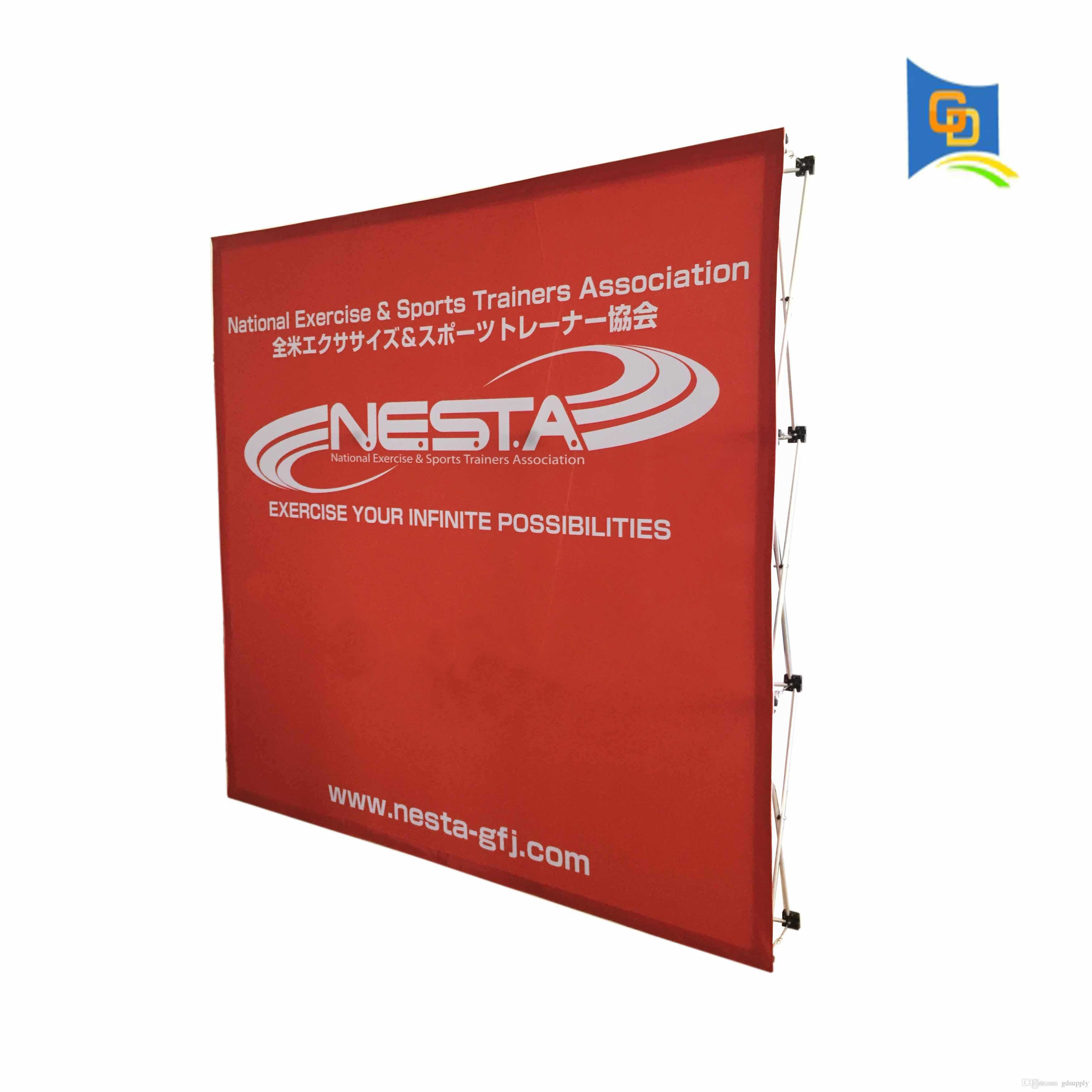 Fabric Exhibition Stand Up : Cm exhibition booth fabric pop up display banner stand