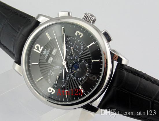 Ossna 42mm Boîtier en acier inoxydable Mouvement Date Date Montre Homme Montre de résistance à l'eau 3ATM Montre-bracelet 1609/1610/1611/1612