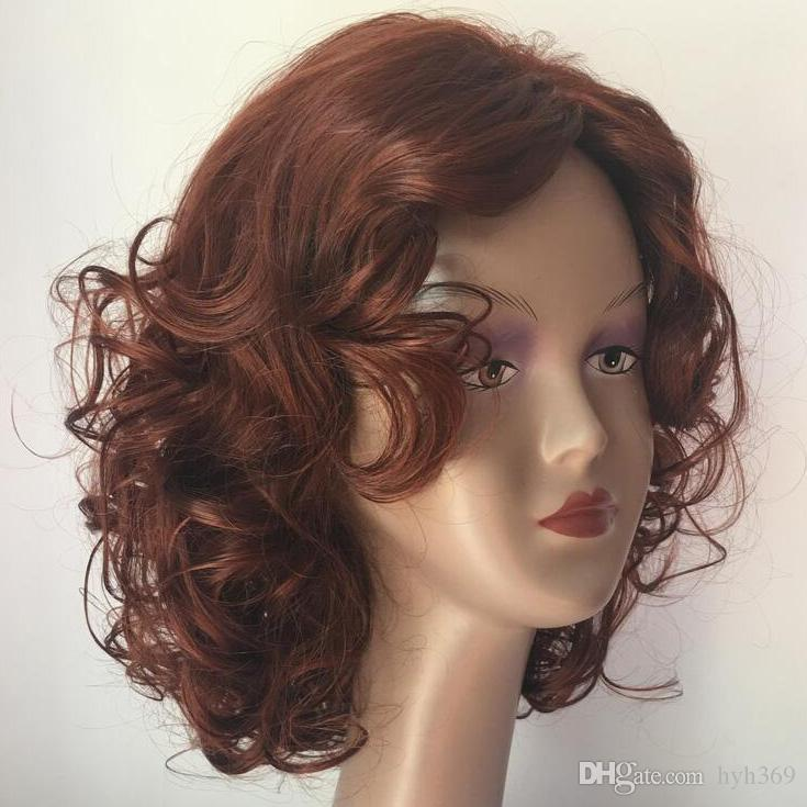 Red Wine African American Highlights Celebrity Wigs Synthetic Fiber