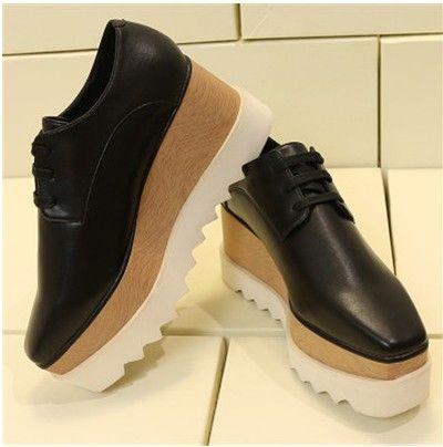 e41f89f12325 Stella Platform Shoes Thick Bottom Fashion Stella Elyse Platform Elyse Star  Shoes Britt Wedge Lace Up Flat High Heel Stella Shoes 33 41 Hiking Shoes  Prom ...
