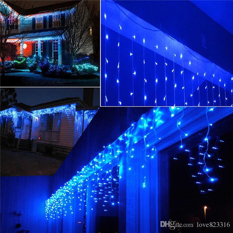 10M * 0.5M 320LEDS وميض الإضاءة LED عيد الميلاد سلسلة الجنية الزفاف الستار الخلفية في الهواء الطلق حزب عيد الميلاد أضواء للماء