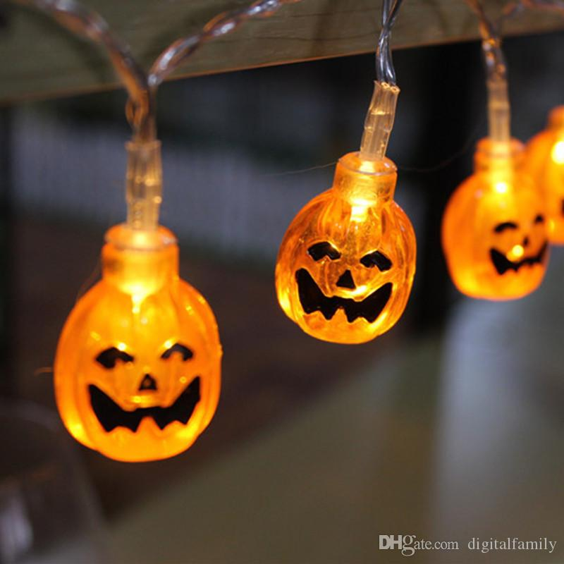 Halloween decor pumpkinsghostspiderskull led string lights halloween decor pumpkinsghostspiderskull led string lights lanterns lamp for diy home bar outdoor party fairy string lights pumpkin christmas light aloadofball