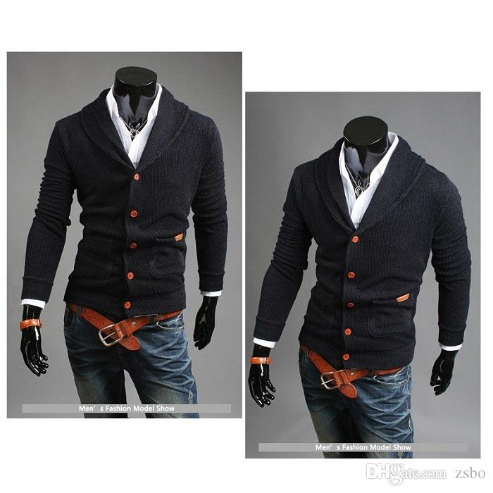 2017 Fashion Men's sweater cardigan sweater V-neck knitting outerwear sweaters casual double-breasted boutique male Sweaters WY04 RF