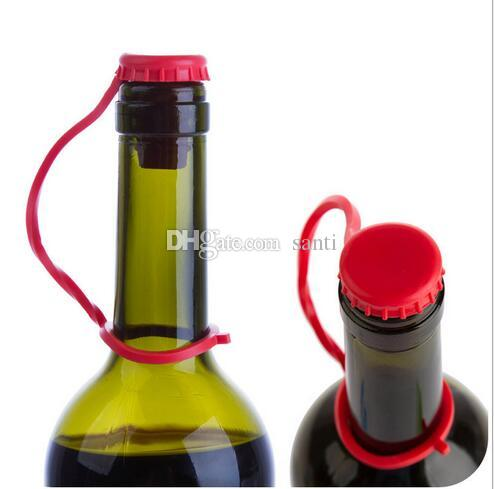 Kitchen Anti-lost Silicone Hanging Button Seasoning Beer Wine Cork Stopper Plug Bottle Cap Cover Perfect Home Kitchen Tools