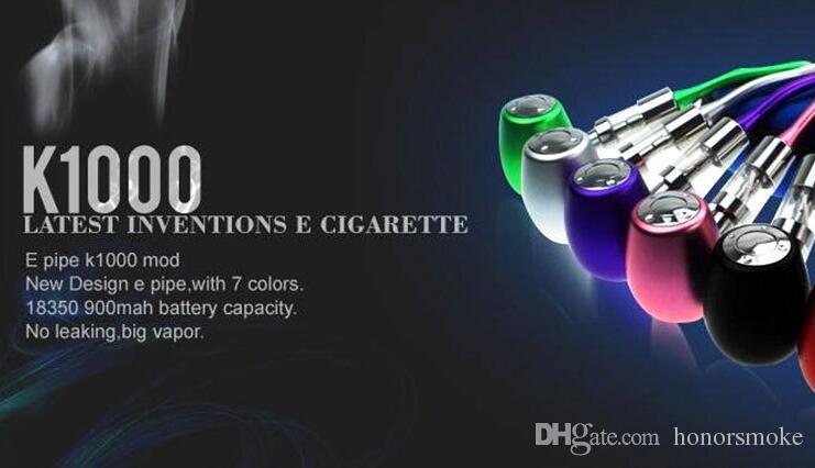 Kamry E-Pipe Mod Holz K1000 Batterie Körper Mod E Cig Tanks Zerstäuber Riesige Dampf EPipe K1000 Mechanische Mod E Zigarette Kit mehrere Farben