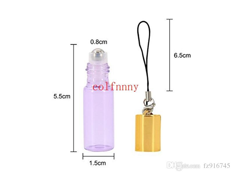 Fast Shipping 5ml Essential Oil Roller Bottles with metal Roller Balls Aromatherapy Perfumes Lip Balms Roll On Bottle