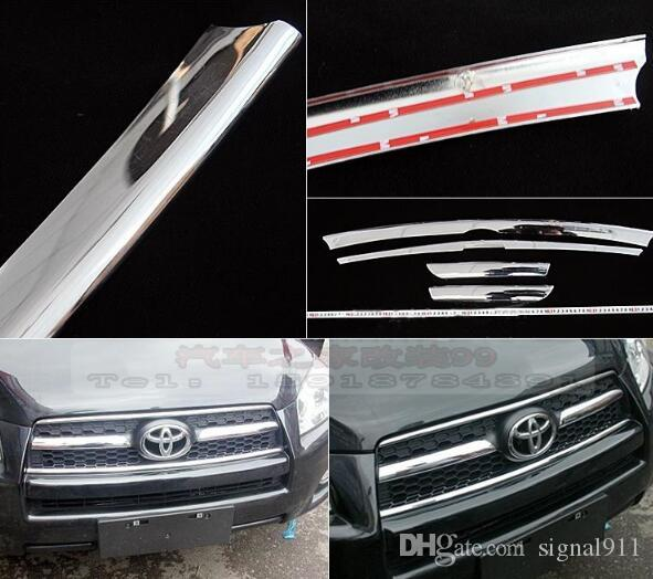 High quality ABS chrome Front Grill trim,decorative strip for TOYOTA RAV4 2009-2012