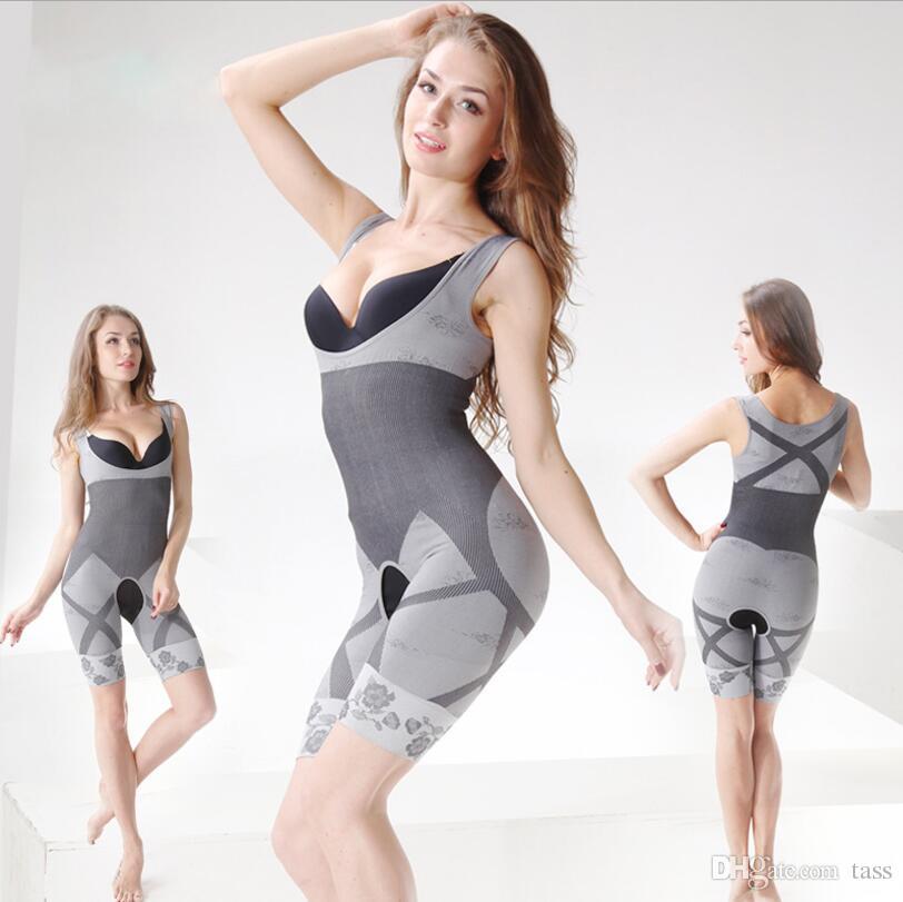 De calidad superior es Bamboo Charcoal Sculpting Underwear del cuerpo de las mujeres Slim Corset Adelgaza trajes Body Shapewear