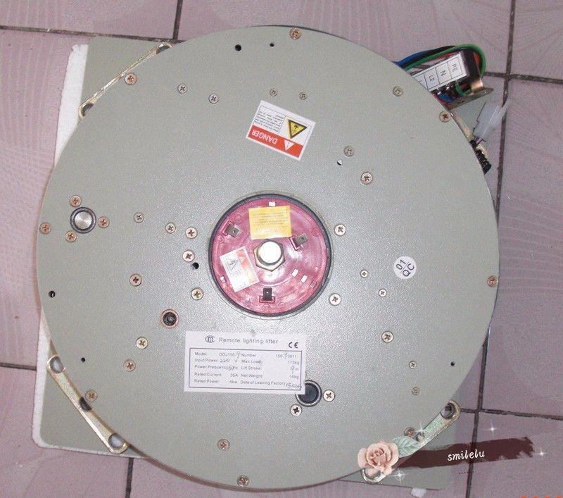 DDJ100KG 5M Chandelier Hoist Light Lifting System Lámpara Winch Lifter Lifter Chandelier Lift 110V-120V, 220V-240V, envío gratis
