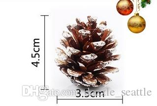 one package Christmas Tree Hanging Balls Pine Cones Pinecone Xmas New Year Holiday Party Decoration Ornament For Home Parties Supplies