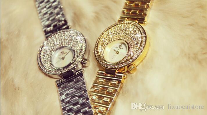 Damenuhren silber 2017  Großhandel Goldene Silber Rose Gold Berühmte Marke 2017 Neue ...