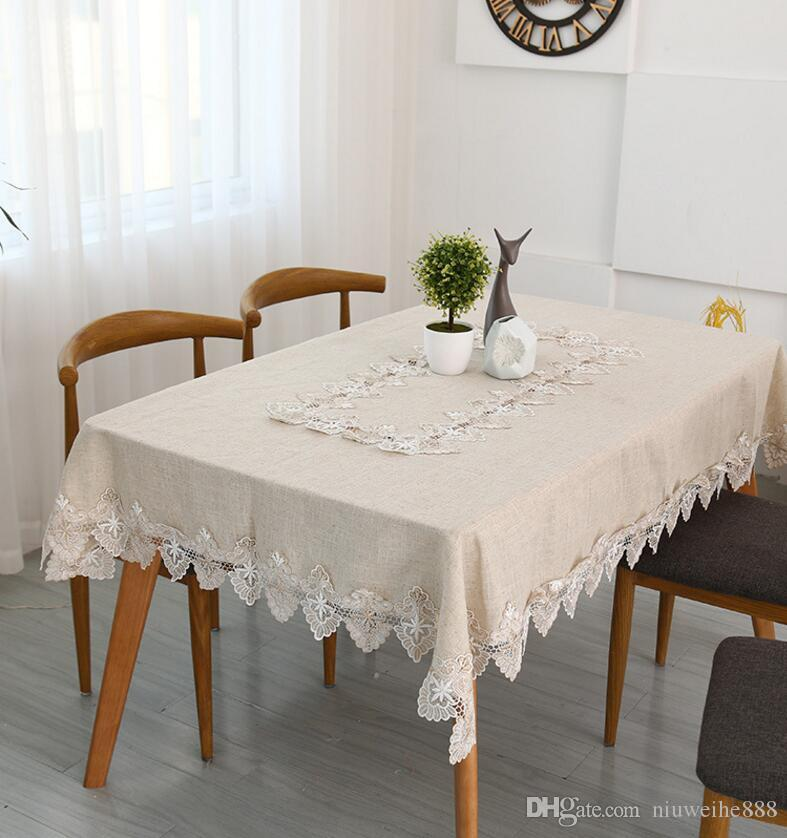 New Style Light Grey Linen Tablecloth/ Square Tea Table Cloth Cover Towels/  Simple Household Table Cloth Linen Tablecloth Square Table Cloth Household  Table ...
