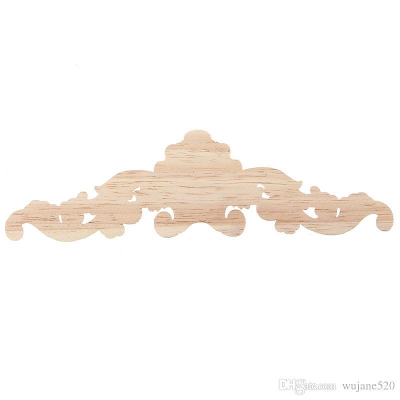 3 حجم خمر الخشب منحوتة ركن راصعة زين إطار الباب جدار تزيين الأثاث التماثيل الزخرفية خشبية المنمنمات نحت الخشب شارات