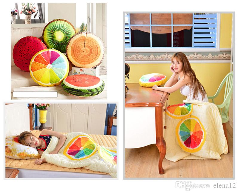 3D Fruit Cushion Blanket Pillow Cushion Decorative Quilt Home Decor Car  Sofa Seat Travel Bed Pillow Sleeping Pillow Baby Blanket 300699 Blue And  Green ... 88515ef416cb