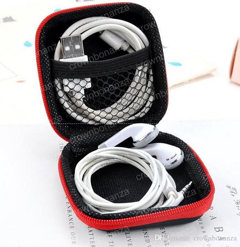 Fidget Spinner Bags Headset Container For Hand Spinner Case Square 7.5*7.5*3cm Storage Box Multi Function Cases Colorful