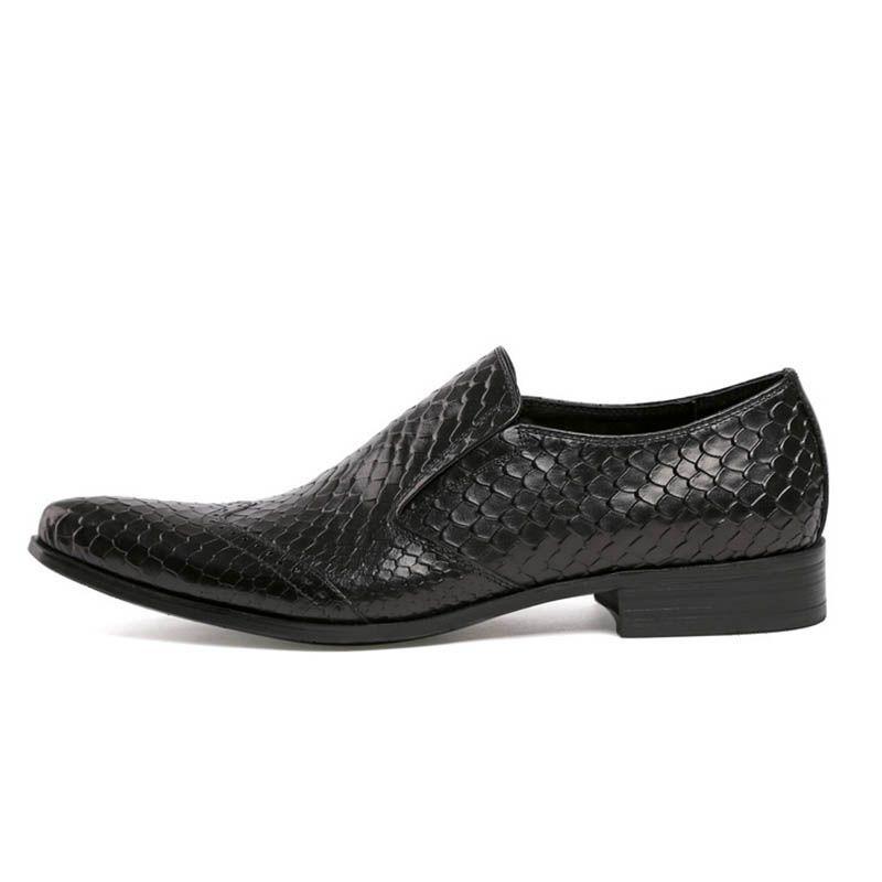 скольжения на обувь мужчины повседневная натуральная кожа черный коричневый итальянский мода бизнес офис лето мужская обувь Обувь для ног 2017