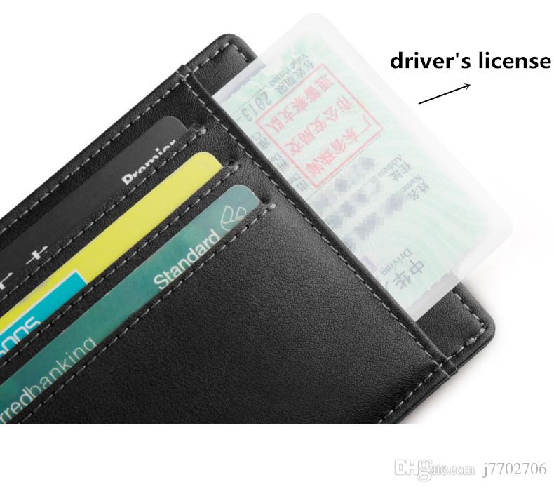Titulaire de la Carte de Crédit en Cuir Véritable Permis de conduire Portefeuille Haute Qualité carte d'identité Case pour Voyage 2017 Nouveaux Hommes d'Affaires Slim Carte Doux