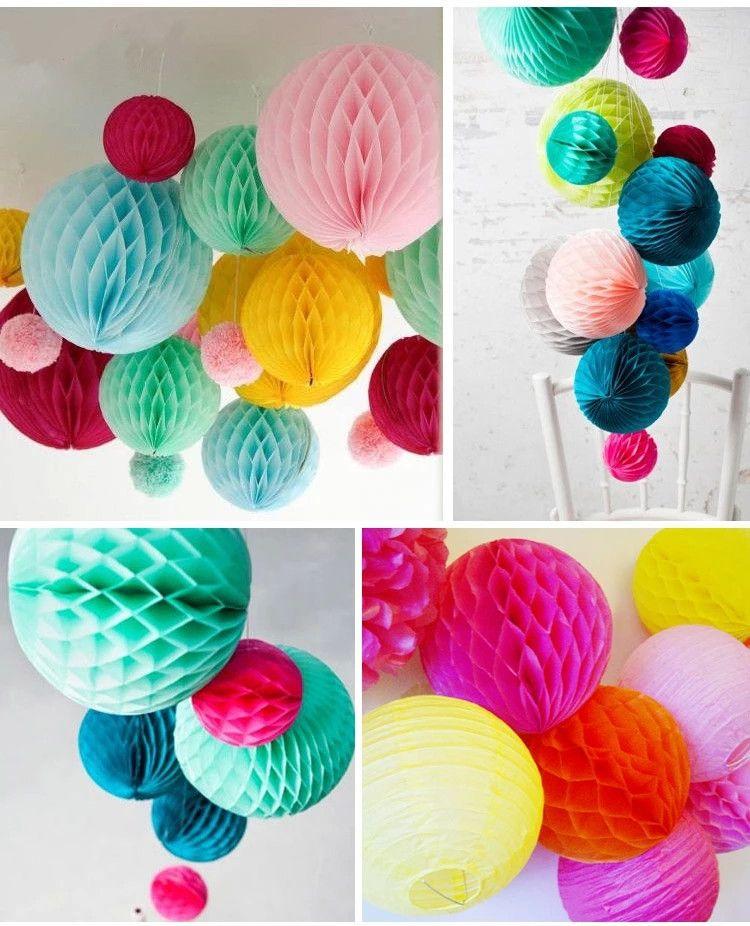 Honeycomb Balls Decoration Pleasing Paper Handmade Flowers Honeycomb Balls Lantern 10 25Cm Lantern For Design Inspiration