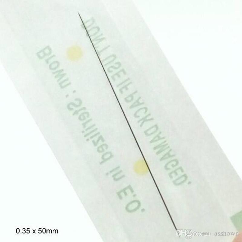 Einweg Sterilisiert Professionelle Tattoo Nadeln 1RL Für Tattoo Augenbrauenstift Maschine Permanent Make-Up Kit 100 stücke PMU nadeln 1R