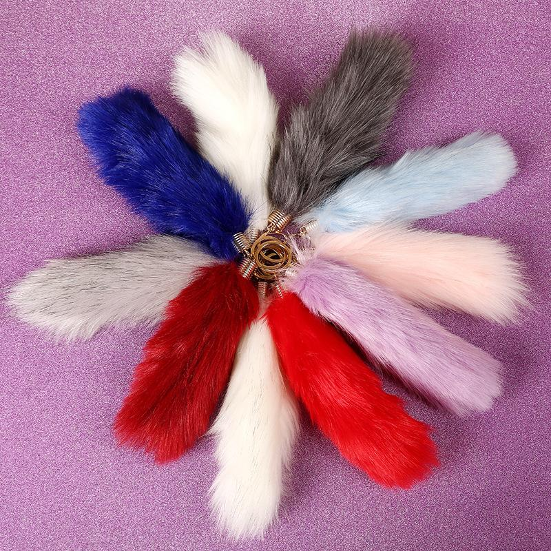Foreign hot color imitation fox tail ornaments wholesale plush pendant wedding goods stall