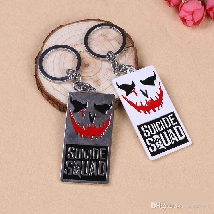 Suicide Squad Movie Key Chain Alloy Stainless Steel Key Rings Pendant Metal Keychain for Car Key Accessories