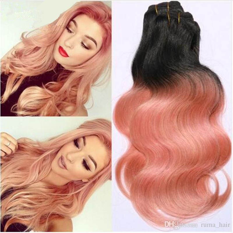 2018 peruvian body wave ombre hair extensions 8a rose gold weave see larger image pmusecretfo Choice Image