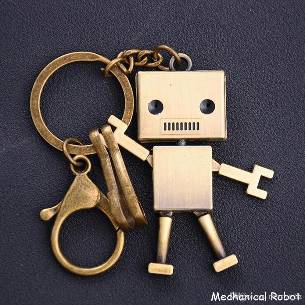 Creative Vintage Robot Model Metal Keychains Keyring Abacus Whistle Keychain Retro Bike Cowboy Hat Key Chain Keyfob Keyrings Gift Acessories