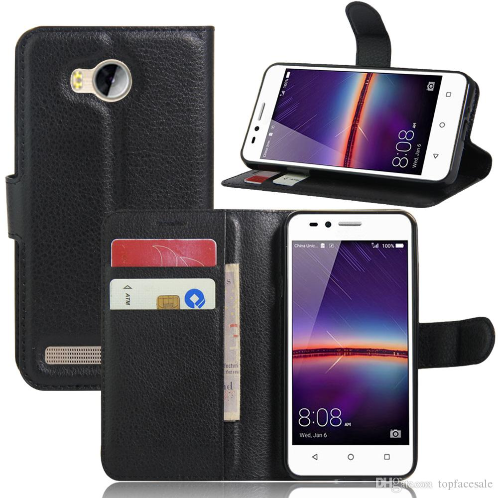 super popular 5ce64 fa8f9 Diforate New Arrival Luxury Leather Wallet Phone Flip Cover Pouch Case For  Huawei Y3II/Honor Bee 2