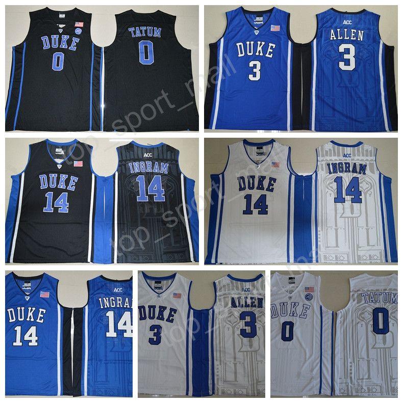 d9e5b8d9 ... Black Basketball Stitched NCAA Jersey 2017 High Quality 0 Jayson Tatum College  Jersey 15 Jahlil Okafor Duke Blue Devils Basketball Jerseys .