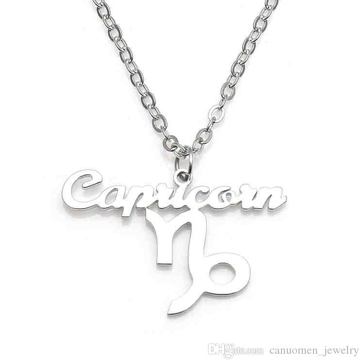 collections necklace the line products capricorn pendant capricon stones cvc