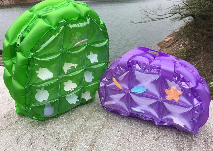2017 Newest High Quality Candy colors Inflatable Bag Waterproof Backpack Handbag Beach Sport Bags Transparent PVC Swiming Bag Float Dry Bag