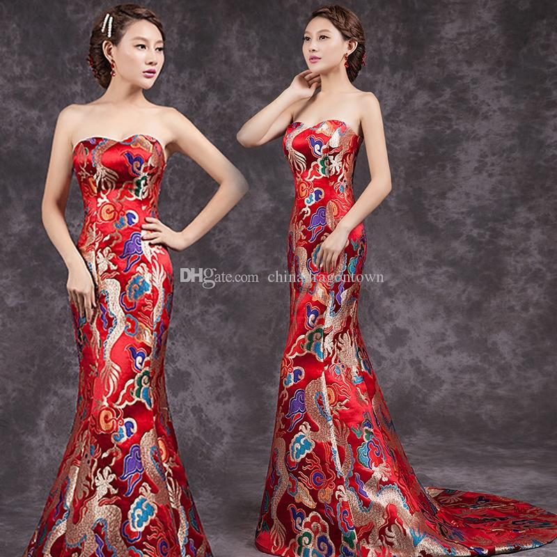 4da8b3383 Compre Sexy Vestidos De Mujer Casual China Vestidos De Fiesta De Boda  Largos Qipao Oriental Vestido De Noche De Estilo Chino Tradicional  Cheongsam Chino A ...