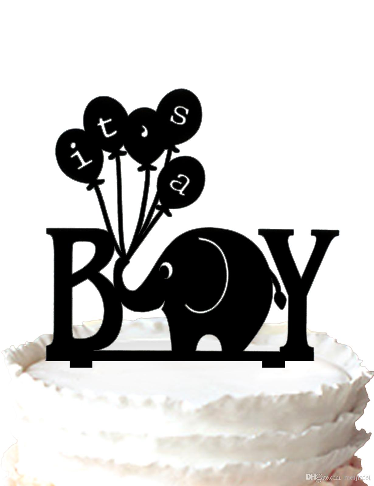 2018 Birthday Cake Topper For A Boyits A Boy Elephant With Balloon
